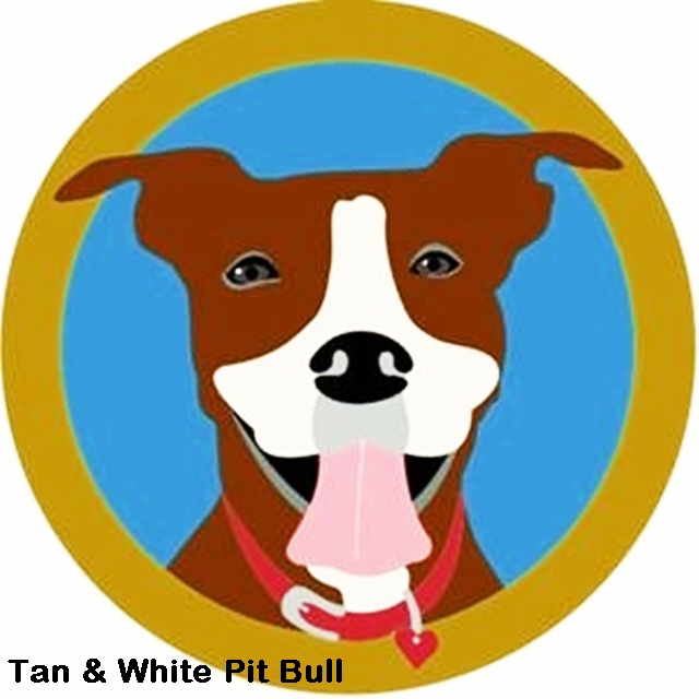Tan and White Pit Bull Mouse Pad