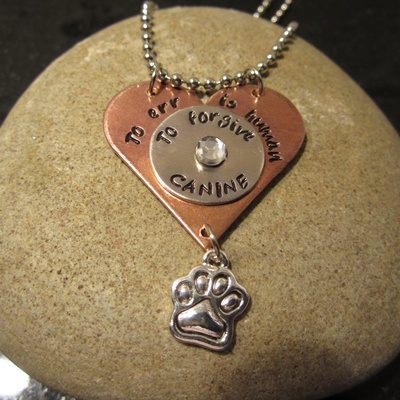 To Err is Human to Forgive Canine Necklace