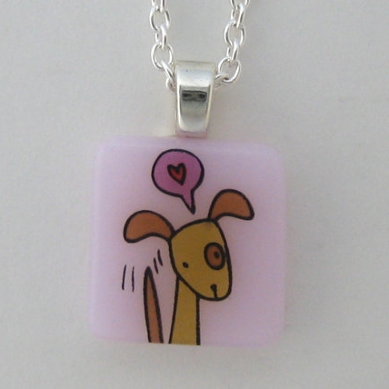 Wag Dog Glass Necklace