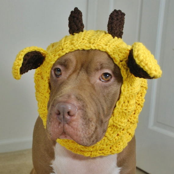 Yellow Giraffe Crochet Snood