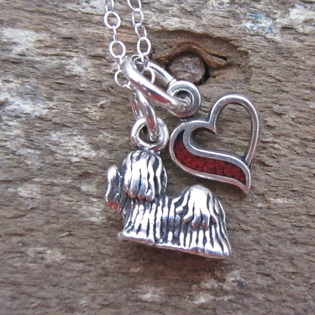 Yorkshire Terrier In My Heart Mini Sterling Silver Necklace
