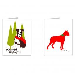 Boxer Season's Greetings Note Cards
