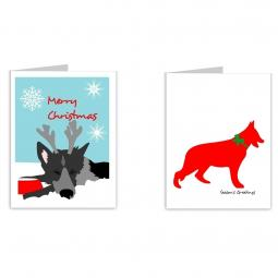 German Shepherd Season's Greetings Note Cards