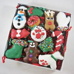 12 piece Christmas Dog Treat Assortment