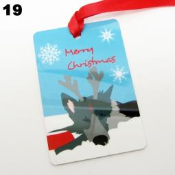 German Shepherd Merry Christmas Ornament