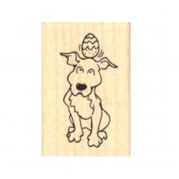 Easter Egg Pit Bull Rubber Stamp
