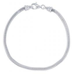3mm Snake Chain European Style Sterling Silver Bracelet with Rem