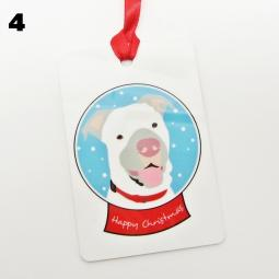 Pit Bull Happy Christmas Ornament