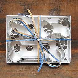 Four Piece Dog Bone Cookie Cutter Set
