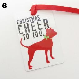 Pit Bull Christmas Cheer Ornament