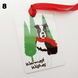 Boxer Warmest Wishes Christmas Ornament