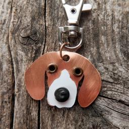 Beagle Metal Rivet Tag/Keychain