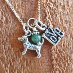 Beagle Love Mini Sterling Silver Necklace