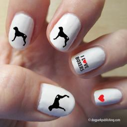 Boxer Love Nail Art