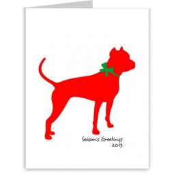 Pit Bull Season's Greetings Note Cards (#13)