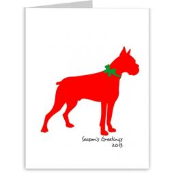 Boxer Season's Greetings Note Cards (#14)