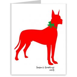 Great Dane Season's Greetings Note Cards (#15)