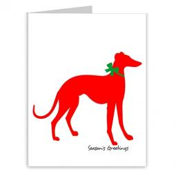 Greyhound Season's Greetings Note Cards