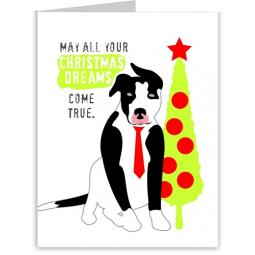 Pit Bull Christmas Dreams Note Cards (#17)