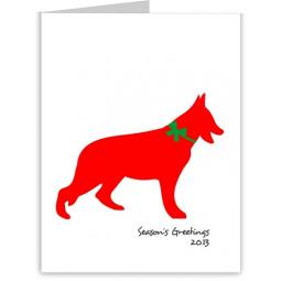German Shepherd Season's Greetings Note Cards (#18)