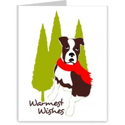 Boxer Warmest Wishes Holiday Note Cards (#8)