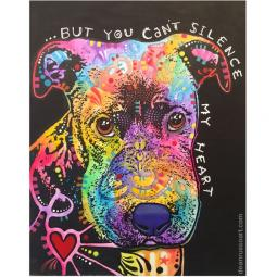 Caitlyn You Can't Silence My Heart Pit Bull Print by Dean Russo