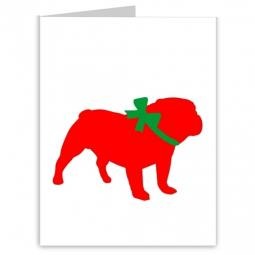 Bulldog Season's Greetings Note Cards