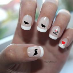 Corgi Love Nail Art