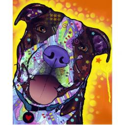 Daisy Pit Bull Dean Russo Print - Discontinued