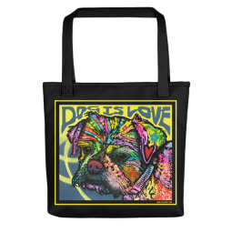 Dog is Love (Thoughtful) Indelible Dog Tote Bag