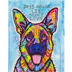 Dogs Never Lie Print