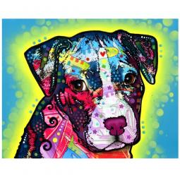 Faithful Pit Bull Print