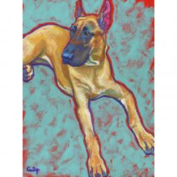 Fawn Great Dane Print