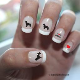 Golden Retriever Love Nail Art