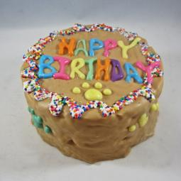 Happy Birthday Round Dog Cake