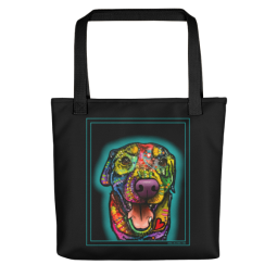 Heart Full Indelible Dog Tote Bag