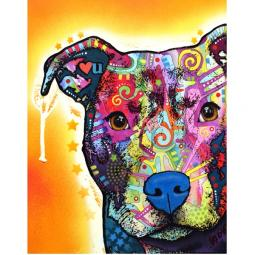 Heart U Pit Bull Print by Dean Russo - Discontinued