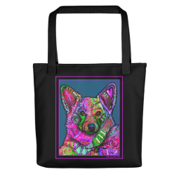 Indelible Corgi Indelible Dog Tote Bag