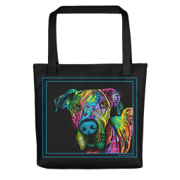 Indelible Dane Indelible Dog Tote Bag