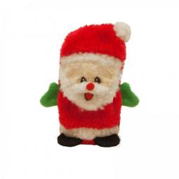 Invincibles Mini Santa Squeak Christmas Dog Toy
