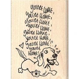 Dachshund You're Home Rubber Stamp