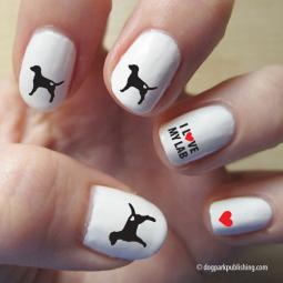Labrador Retriever Love Nail Art