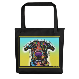 Love and Rescue Indelible Dog Tote Bag