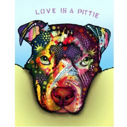Love is a Pittie Pit Bull Print by Dean Russo - Discontinued
