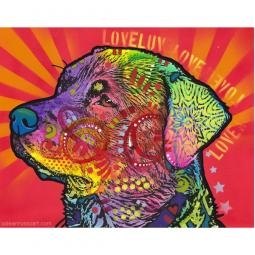 Love Rottie Print by Dean Russo