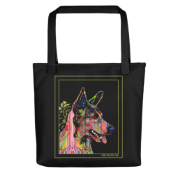 Love is Here Indelible Dog Tote Bag