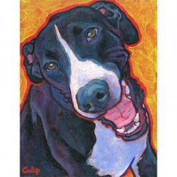 Smiling Mantle Great Dane Print