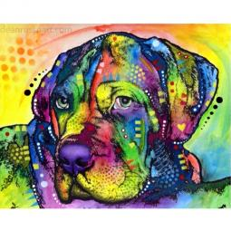Mastiff Pup Print by Dean Russo - Discontinued