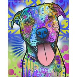 Mr. Biggs Pit Bull Print by Dean Russo - Discontinued