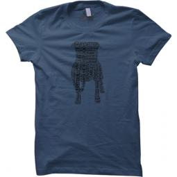 Pit Bull Text Unisex Loose Fit T-Shirt - Steel Blue with Black
